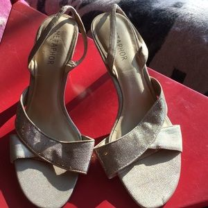 Golden sandals EUC